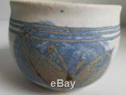 Mid Century Early Vtg JT Abernathy Studio Art Pottery Signed Sphere Planter Lot
