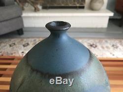Mid Century Extra Large Studio Pottery Weed Pot // Bud Vase Vintage