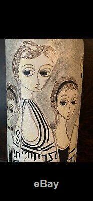 Mid Century Mod Vtg Marcello FANTONI RAYMOR ITALY Studio Art Pottery VASE SIGNED