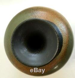 Mid Century Modern Glenn Spangler Studio Pottery Vase Ceramic 1970s Vintage