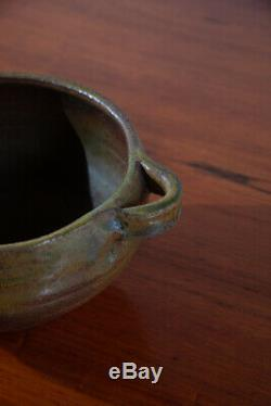 Mid Century Modern Planter Hanging Ceramic Japanese Round Vintage Studio Pottery
