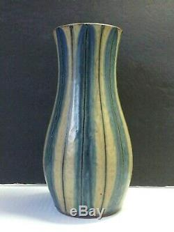 Mid Century Modern Pottery Vase Japanese Studio Drip Vintage Glaze Art Signed