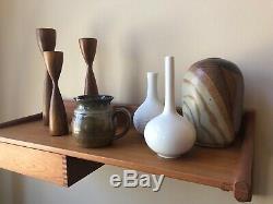 Mid Century Modern Raymond Gallucci Studio Art Pottery Rare Glaze Signed Vtg