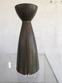 Mid Century Modern Vintage Japanese Studio Pottery Vase Signed