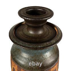 Mid-century Modern Vintage Studio Art Pottery Jar Lidded Vase Sister Mary Lavey