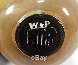Modernist Vintage William Polia Pillin Studio Art Pottery Vase Blended Glaze
