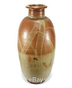 Monumental 22 3/8 Vintage John Preuss California Studio Art Pottery Floor Vase
