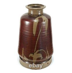 Monumental Modernist Vintage Studio Pottery Lamp Vase Eric Norstad Listed Artist