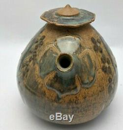 Nancy Finesilver Studio Pottery Teapot Stoneware Vintage