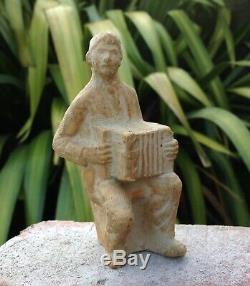 OISIN KELLY Accordian Player. RARE Signed IRISH Vintage KDW Studio Sculpture