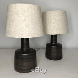 Pair Vintage Jane & Gordon Martz Marshall Studios Ceramic Table Lamps Model 105