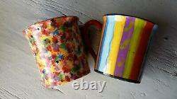 Pair of beautiful vintage Mary Rose Young mugs signed & dated