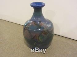 Polia Pillin Signed Studio Art Pottery Vase Horses Vintage Mid Century