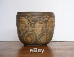 RARE FRANCES SENSKA Vintage Studio Pottery Container Bozeman Montana Ceramics