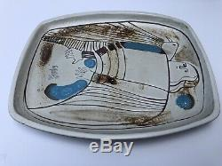 RARE VINTAGE 1976 SUSANA ESPINOSA Studio POTTERY Art PLATE Signed Must See