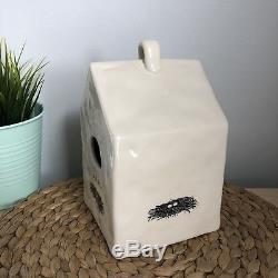 Rae Dunn Vintage Ceramic Birdhouse Nest M Studios 2007/2008 Pottery Gift