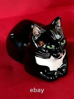 Rare Black Cat Studio Six Fulham Design Seneshall Vintage Pottery Figurine