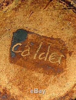 Rare Samuel Calder Vintage Midcentury California Studio Pottery