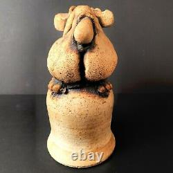 Rare Todd Warner Vintage Hippo Studio Art Pottery Animal Sculpture Figurine Bell