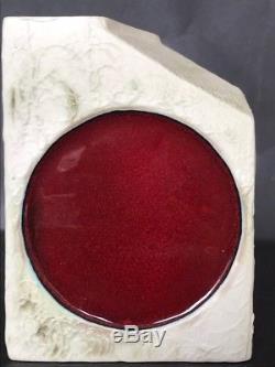 Rare Vintage Carn Studio Pottery Red Glazed Spot Vase
