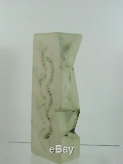 Rare Vintage Carn Studio Pottery Totem Vase Glazed Spot Design Perfect