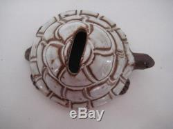 Rare Vintage Handmade Briglin Studio Pottery Tortoise Money Box Parkinson Int