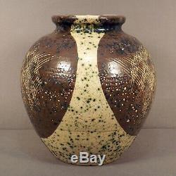 Rare Vintage KARL MARTZ 1953 Signed Incised Dip Glaze Studio Art Pottery Vase 8
