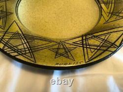Rare Vintage Mid Century Modern Myrton Purkiss Ceramic Studio Bowl Stunning