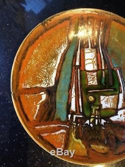 Rare Vintage Poole Pottery Studio Ware Abstract 10.75 Charger Plate 1962-64