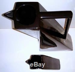 Rare Vintage Salins Studio France 2 Ceramic Art Deco Style Vases 9.5 & 5.5