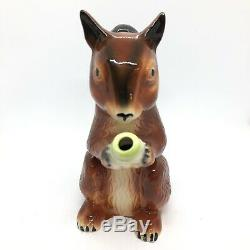 Rare Vintage Tony Wood Red Squirrel Studio Pottery Teapot 7 Made in England