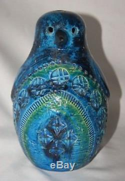 Rare vintage Aldo Londi Bitossi penguin money box mid century studio pottery
