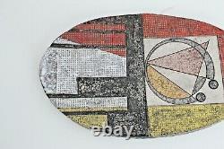 Richard Lincoln Vtg Mid Century Modern Texas Studio Art Pottery Plate Vessel RML