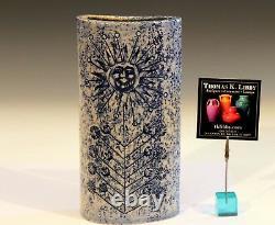 Robert Picault French Studio Pottery Vintage Geometric Pitcher Vase