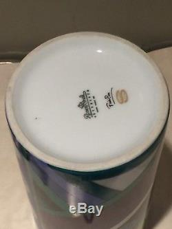 Rosenthal Studio Line Emilio Pucci Rare Vintage Signed Tall Cylinder Vase MCM