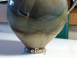 STEVEN HILL Large Vintage MELON Stoneware Pitcher Studio Potter