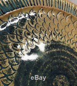 Sasha Makovkin Fish / Serpent Scales 11 Plate Vintage California Studio Pottery