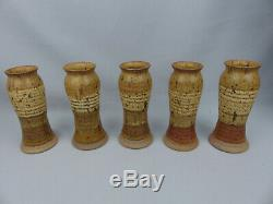 Scarce Vintage Thomas Reece Pennsylvania MCM Studio Art Pottery Pitcher Set