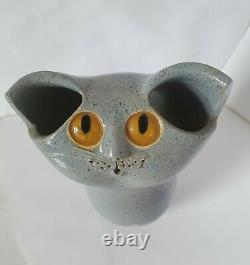 Schaer Cat 1970s vintage, Australian Studio Pottery