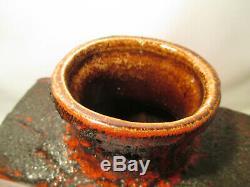 Scheurich West Germany Lava Keramik Vase 70er Jahre Vintage Studio Pottery Roth
