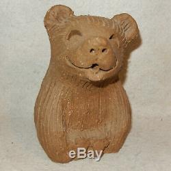 Set 3 MARGARET HUDSON Earth Studio Clay Pottery Bear Family Vintage Fresno Calif