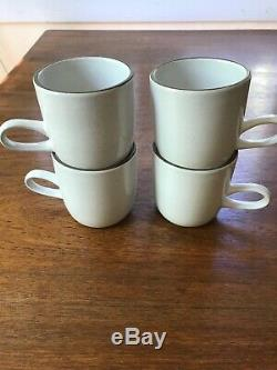 Set of 4 Vintage Heath Ceramics Pottery Studio Mugs Coupe Line Cups Rare Glazes