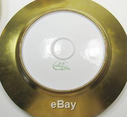 Set of Twelve (12) Vintage D Or' Studios Gold Dinner Plates 10.5