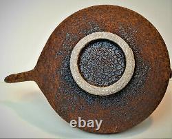 Signed Charles Gluskoter Studio Pottery Teapot Crusty Mud Glaze Vintage Art