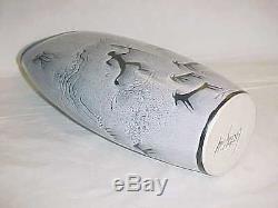 Signed Crutchfield Modern Vintage Studio Art Pottery Vase American Ceramics 12