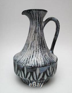 Signed Vintage Ellis Australian Studio Pottery Jug Ewer MID Century