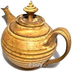 Signed Vintage Studio Art Pottery Sculptural Large Matte Glaze Teapot