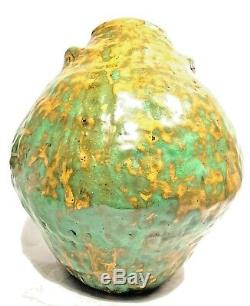 Spectacular Vintage Studio Art Pottery Hand Built Sculpture Organic Shape Vase