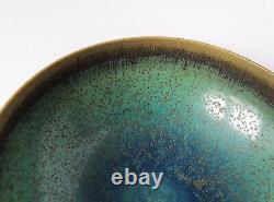 Stig Lindberg unique ceramic bowl Gustavsberg Swedish mid-century vintage MCM