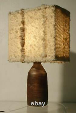 Studio Pottery Ceramic Lamp Bernard Rooke Vibe 1970 Vintage Midcentury Brutalist
